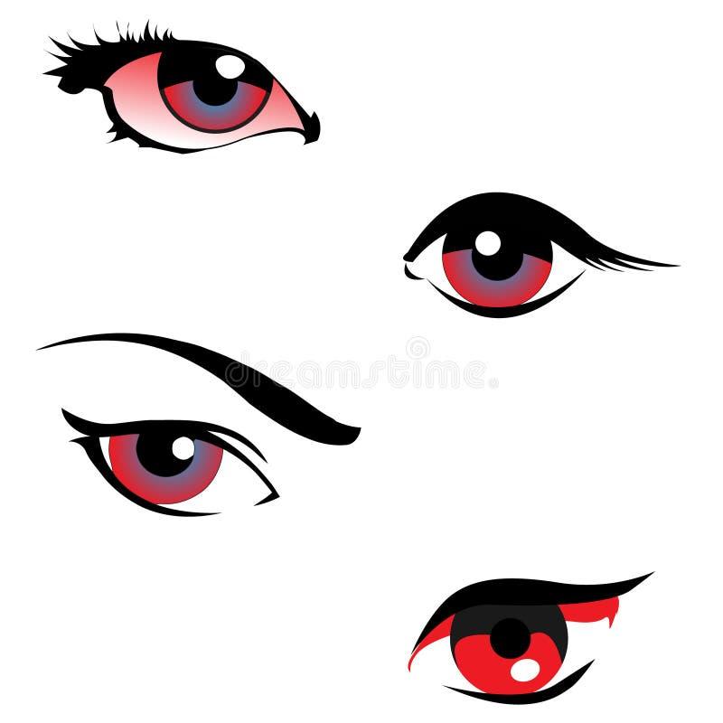 Verärgerte Augen lizenzfreie abbildung