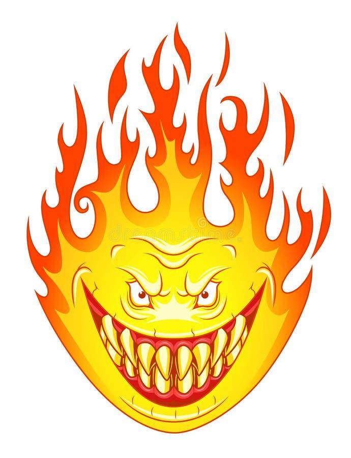 Verärgerte Flamme lizenzfreie abbildung