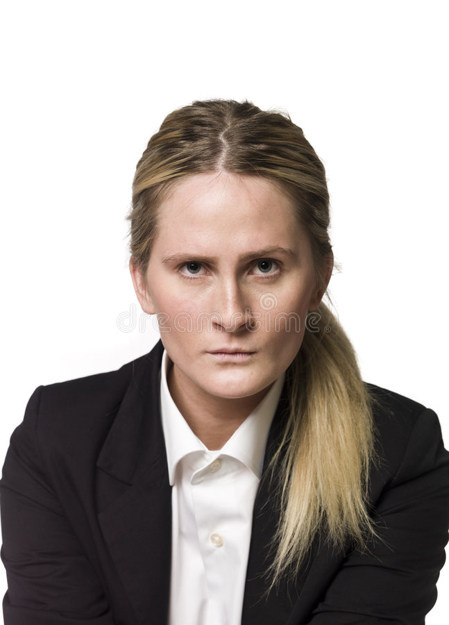 Download Verärgerte Frau stockfoto. Bild von besetzung, weiß, frau - 9098280