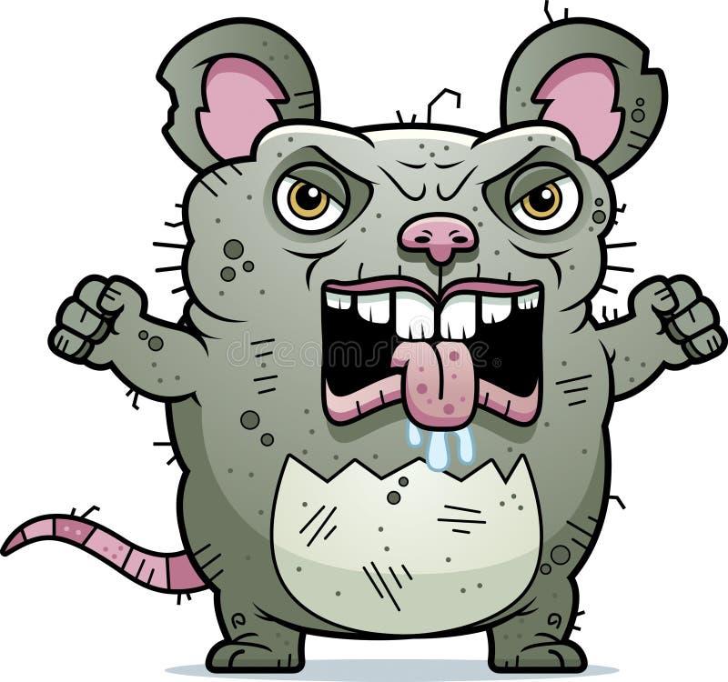 Verärgerte hässliche Ratte stock abbildung