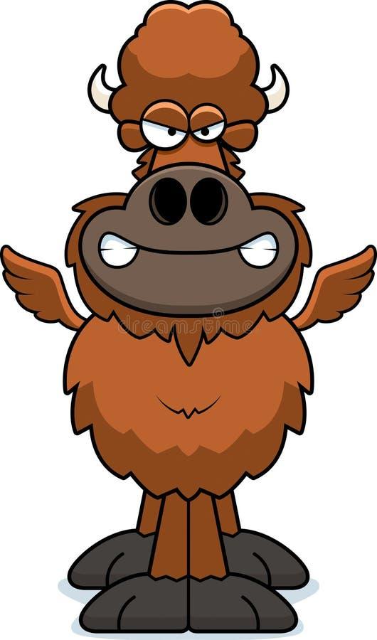 Verärgerte Karikatur-Hühnerflügel vektor abbildung