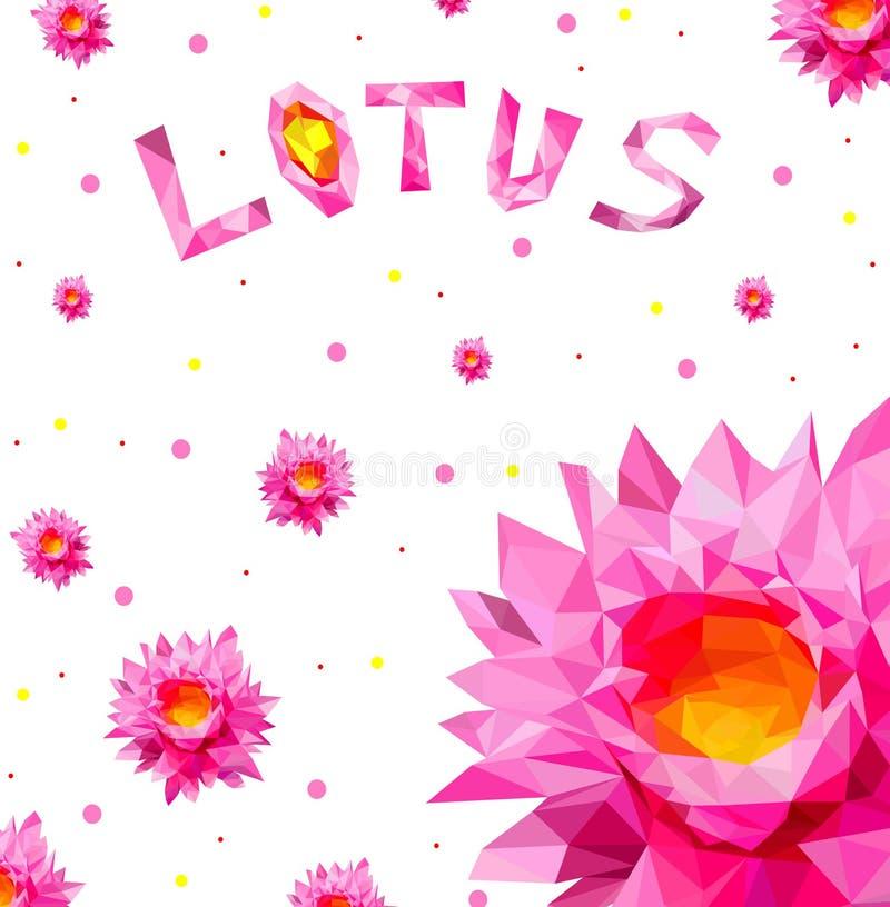 Verärgerte nette Sonne, Karikaturart, Vektorillustration Niedrige rosa Lotospolyblume, Logodesign, Vector realistische Illustrati stock abbildung