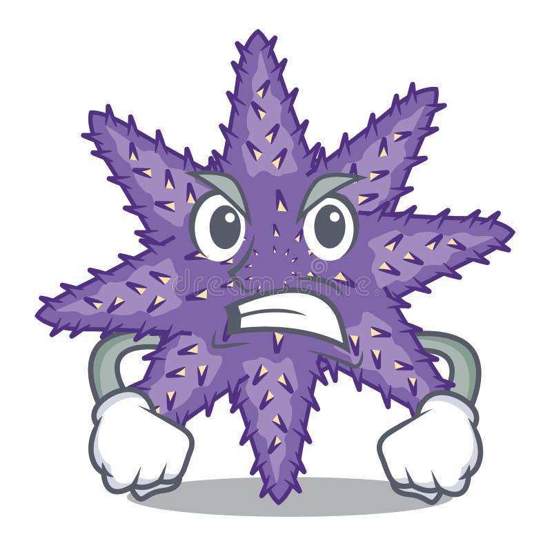 Verärgerte purpurrote Starfish in der Zeichenform stock abbildung