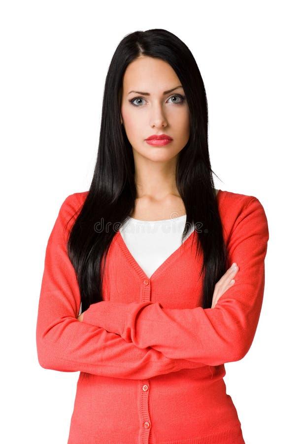 Verärgerte schauende Geschäftsfrau. lizenzfreie stockfotografie