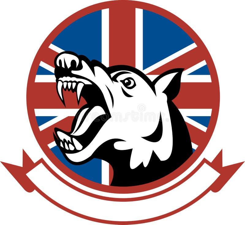 Verärgerter ausgebildeter Abdeckunghund Briten lizenzfreie abbildung