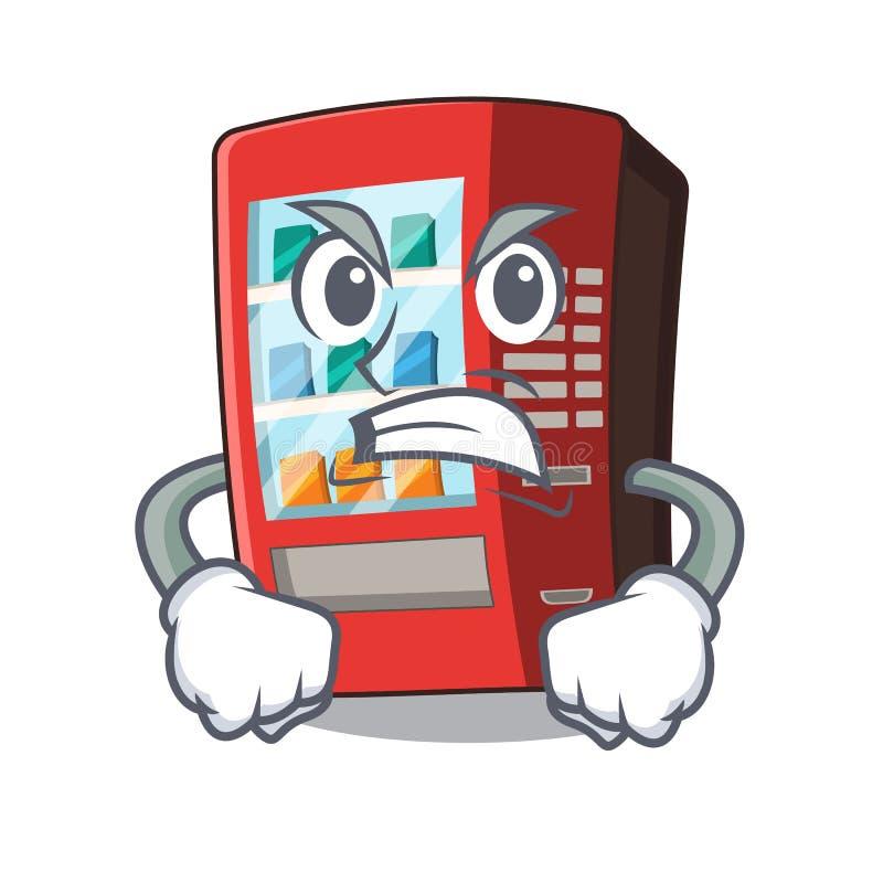 Ver?rgerter Automat nahe bei Charaktert?r vektor abbildung