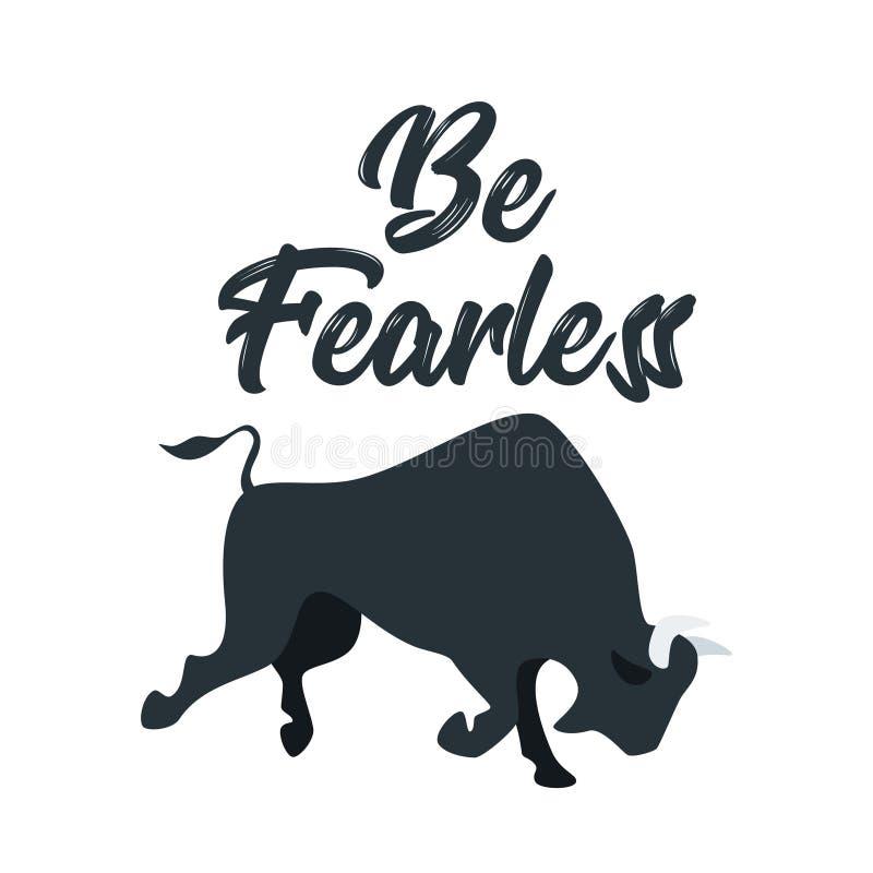 Verärgerter Büffel bereit zum Kampf lizenzfreie abbildung
