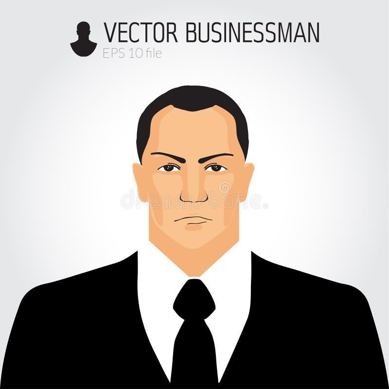 Verärgerter businessmand Avatara, Geschäftsmannikone, Geschäftsporträt, Charakter stock abbildung