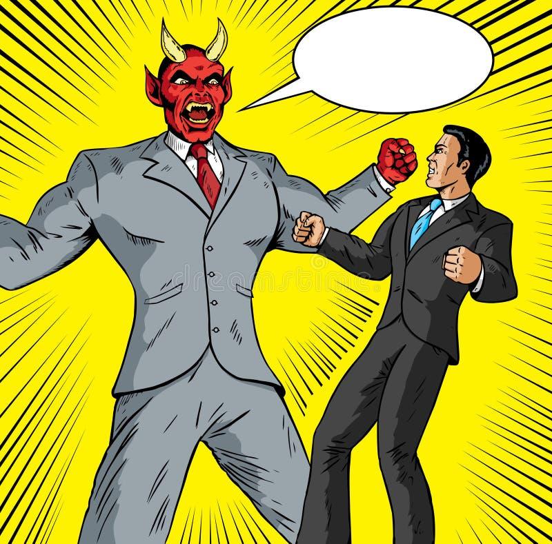 Verärgerter Dämongeschäftsmann stock abbildung