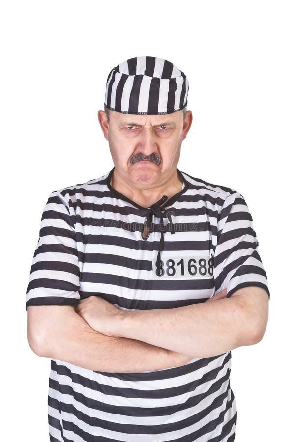 Verärgerter Gefangener stockbild