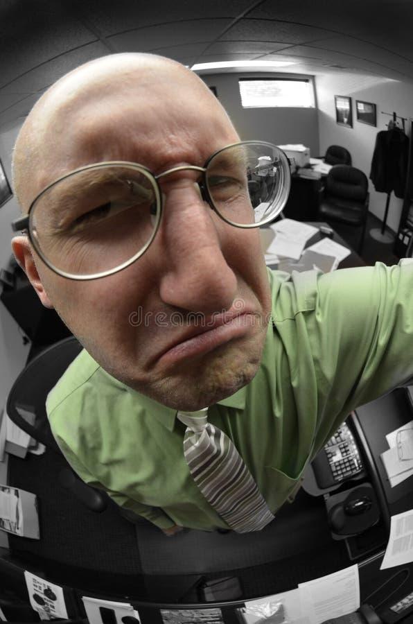 Verärgerter Geschäftsmann-Chef Bossing Office stockfotos
