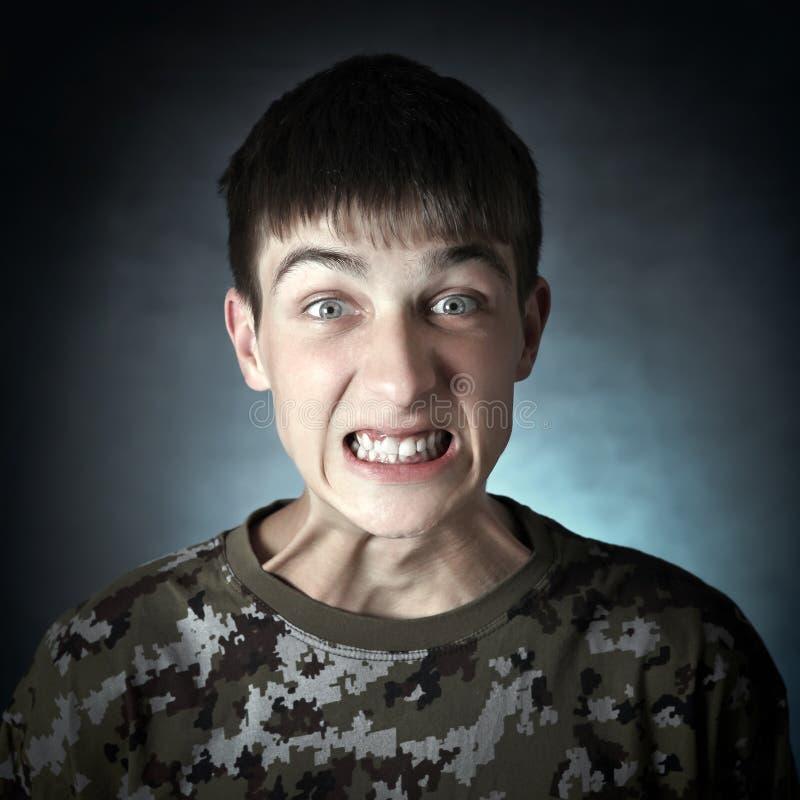 Verärgerter Jugendlicher stockfoto