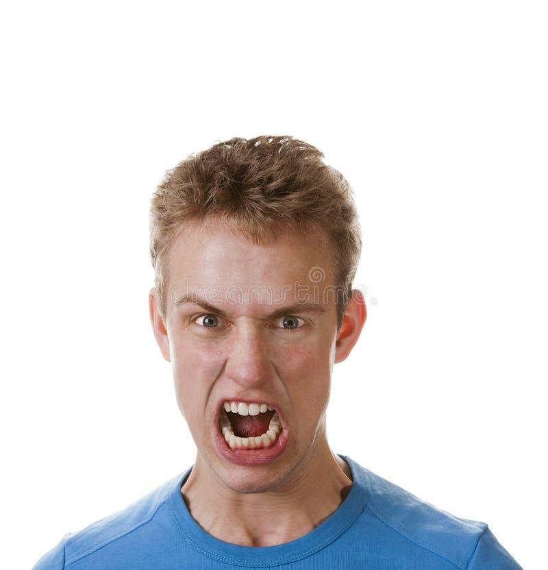 Verärgerter junger Mann stockbild