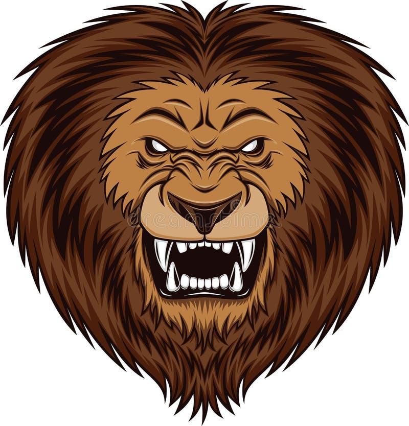 Verärgerter Löwe vektor abbildung