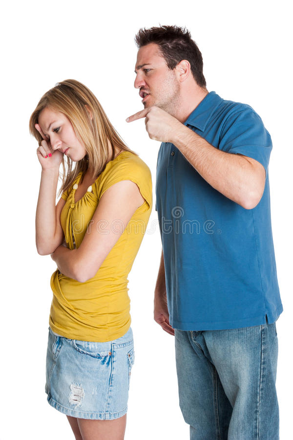 Verärgerter Paare Fighting lizenzfreie stockbilder