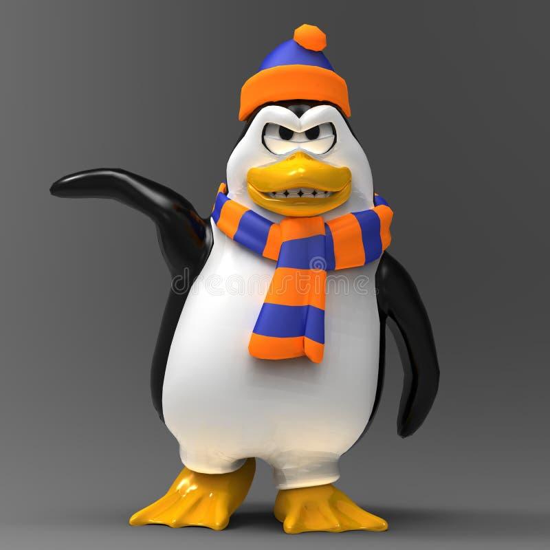 Verärgerter Pinguin stock abbildung