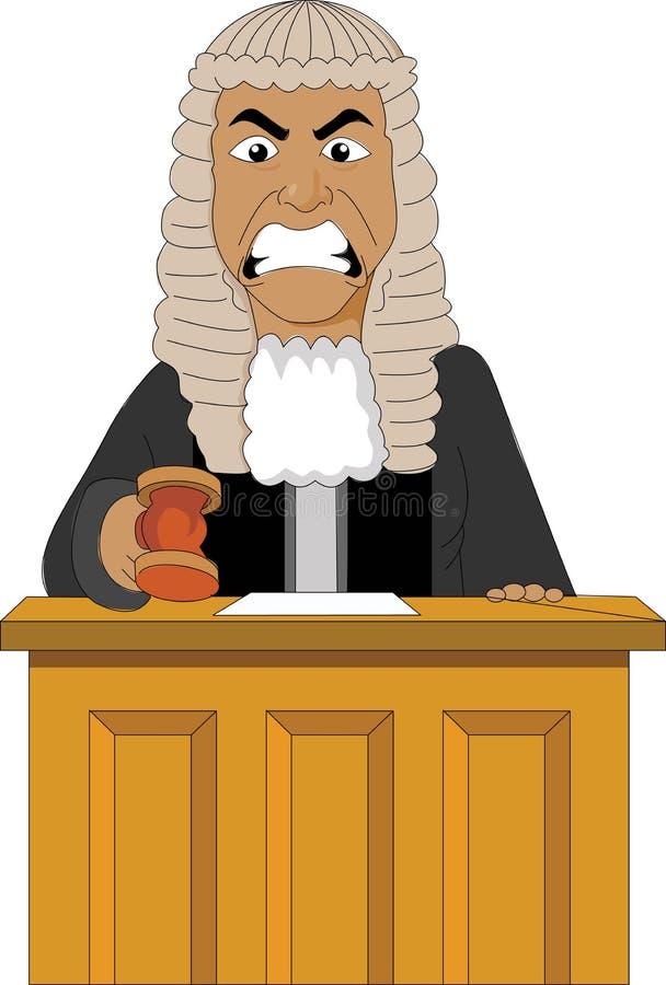 Verärgerter Richter stock abbildung