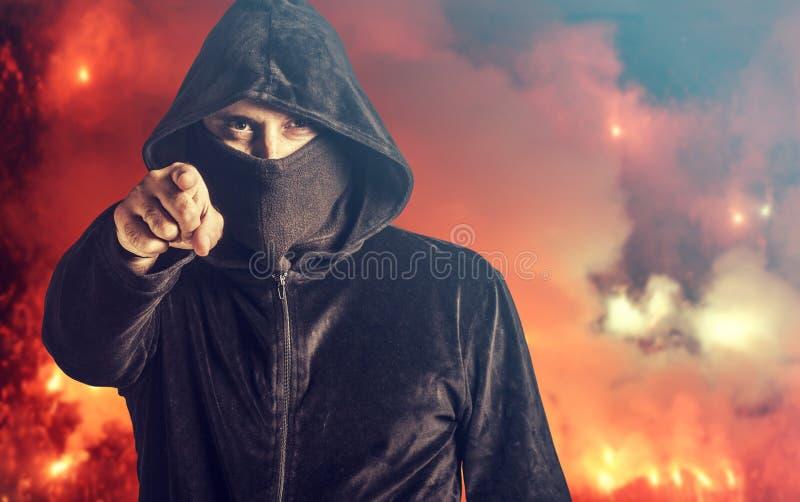 Verärgerter Rowdy lizenzfreies stockfoto