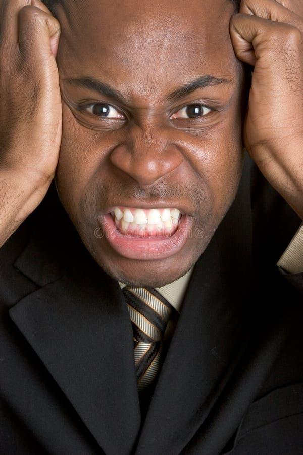 Verärgerter schwarzer Mann stockbild