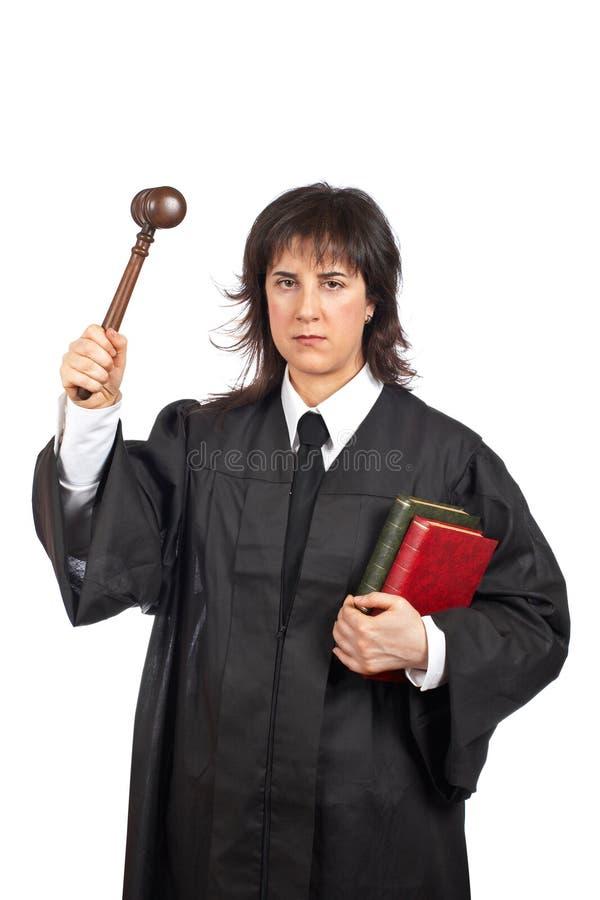 Verärgerter weiblicher Richter lizenzfreies stockfoto