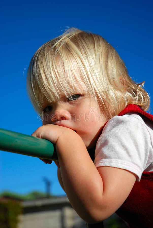 Verärgertes Baby stockfoto