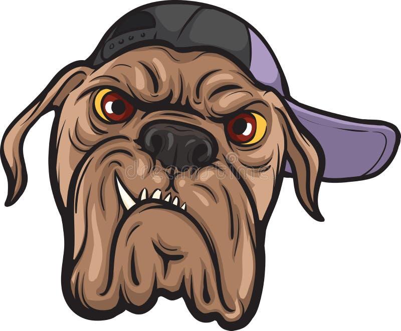 Verärgertes Hundegesicht stock abbildung