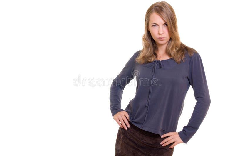 Verärgertes Mädchen lizenzfreie stockfotos