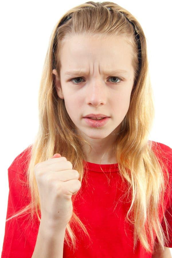 Verärgertes Mädchen stockbilder