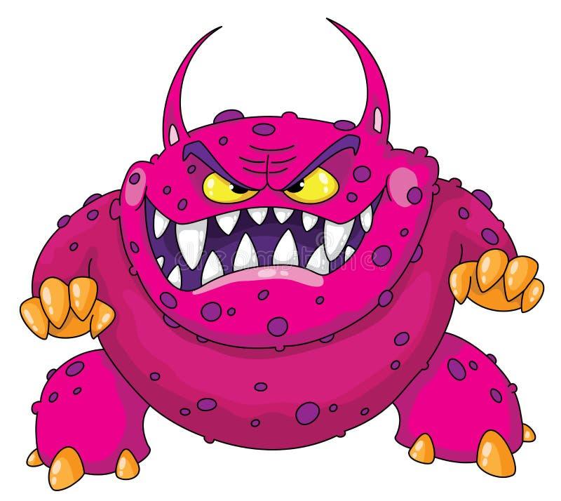Verärgertes Monster lizenzfreie abbildung