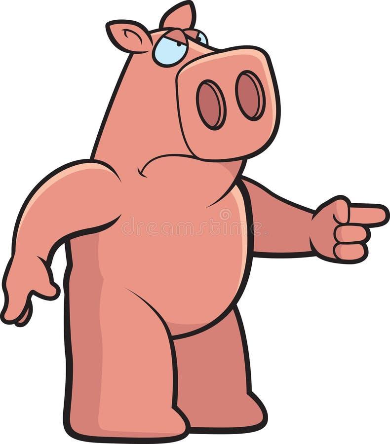 Verärgertes Schwein stock abbildung