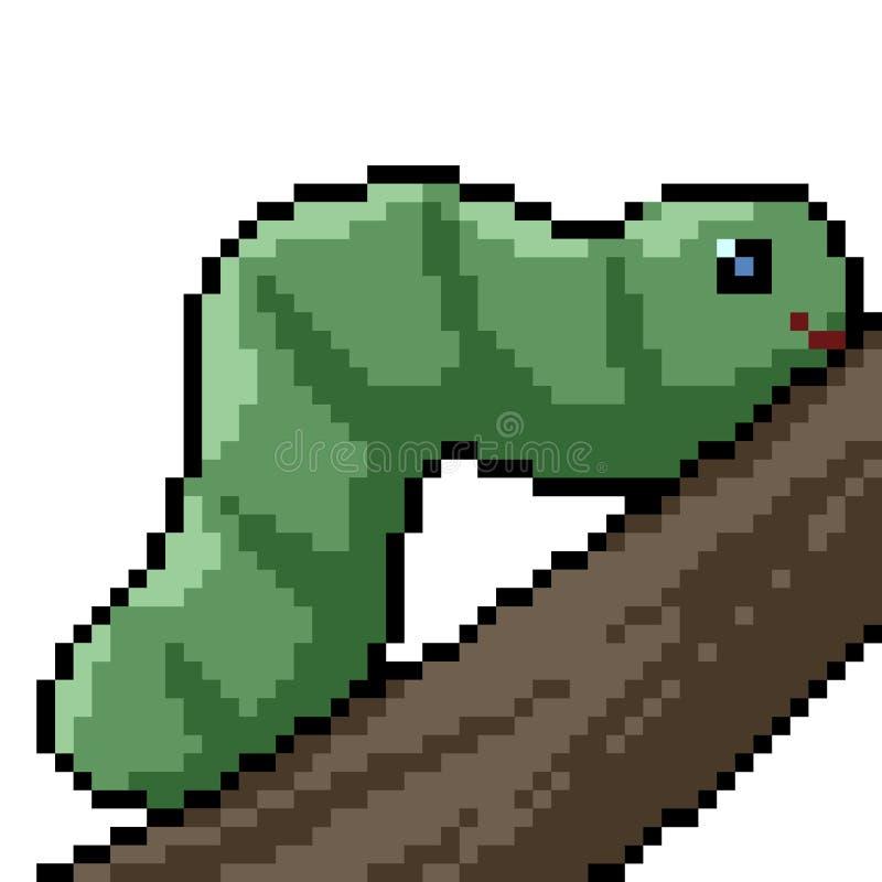 Ver d'art de pixel de vecteur illustration libre de droits