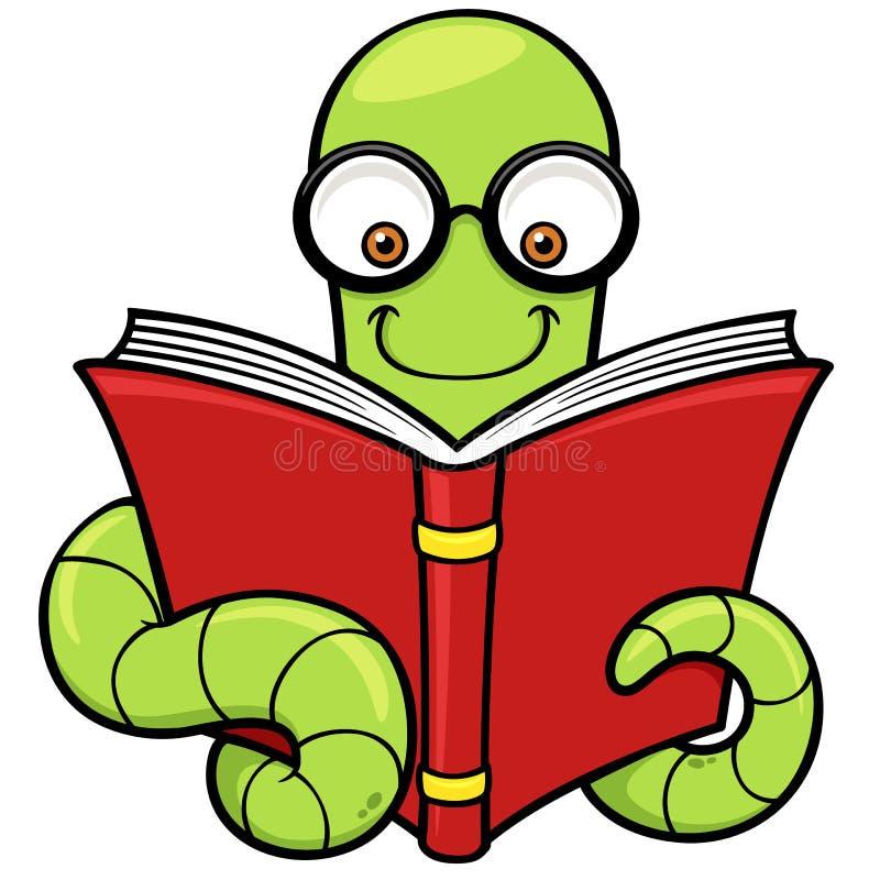 Ver de livre de bande dessinée illustration libre de droits