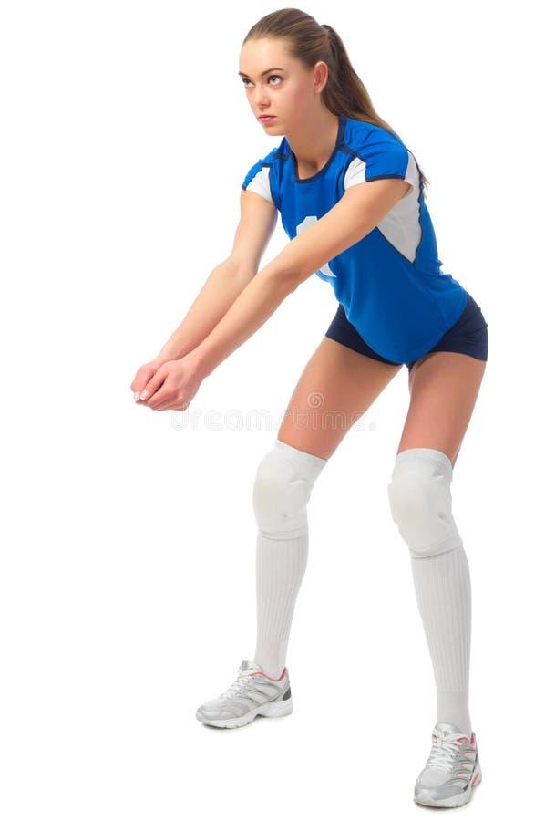 Ver del jugador de voleibol de la mujer sin la bola fotografía de archivo libre de regalías