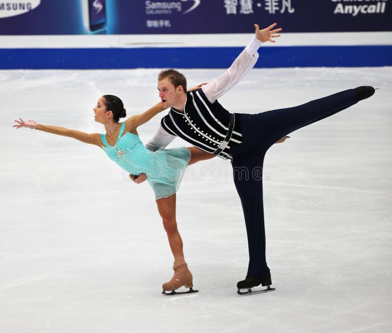 Vera Bazarova and Yuri Larionov of Russia stock image