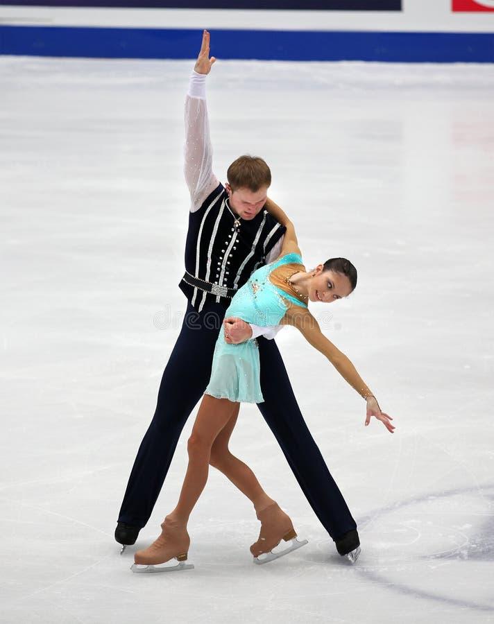 Vera Bazarova and Yuri Larionov of Russia stock photo