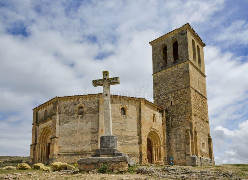 Vera Cruz-kerk in Segovia royalty-vrije stock foto