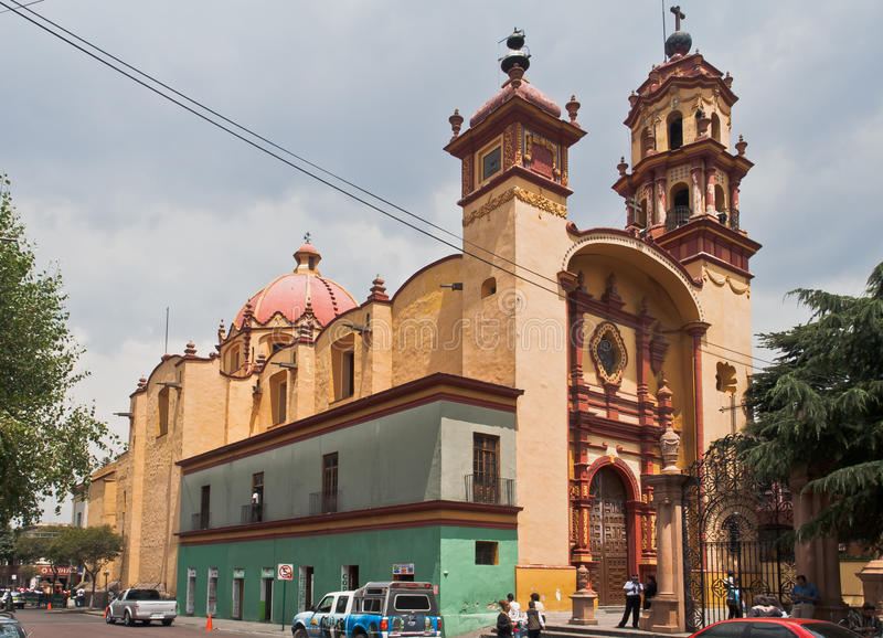 Veracruz saint Church Toluca de Lerdo Mexique images libres de droits