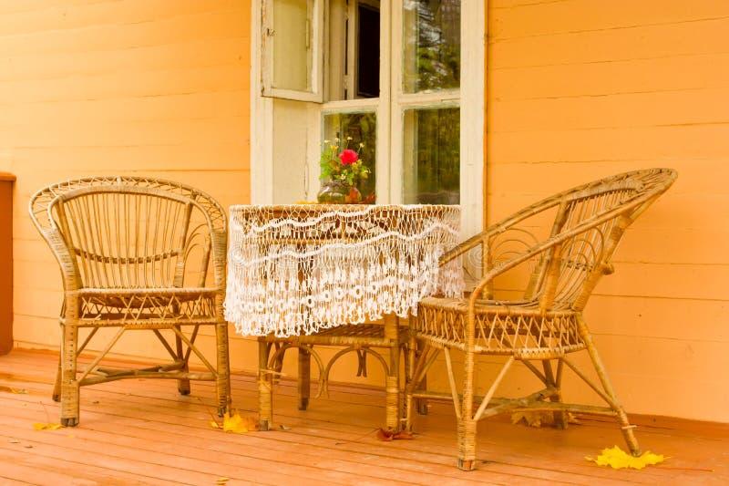 veranda accogliente fotografie stock