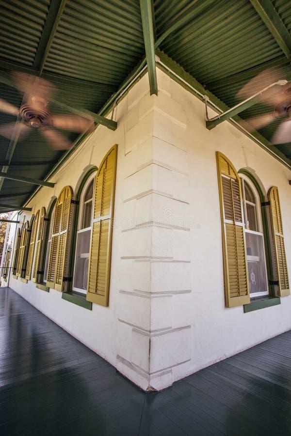 Veranda bij Hemingway-huis in Key West royalty-vrije stock foto