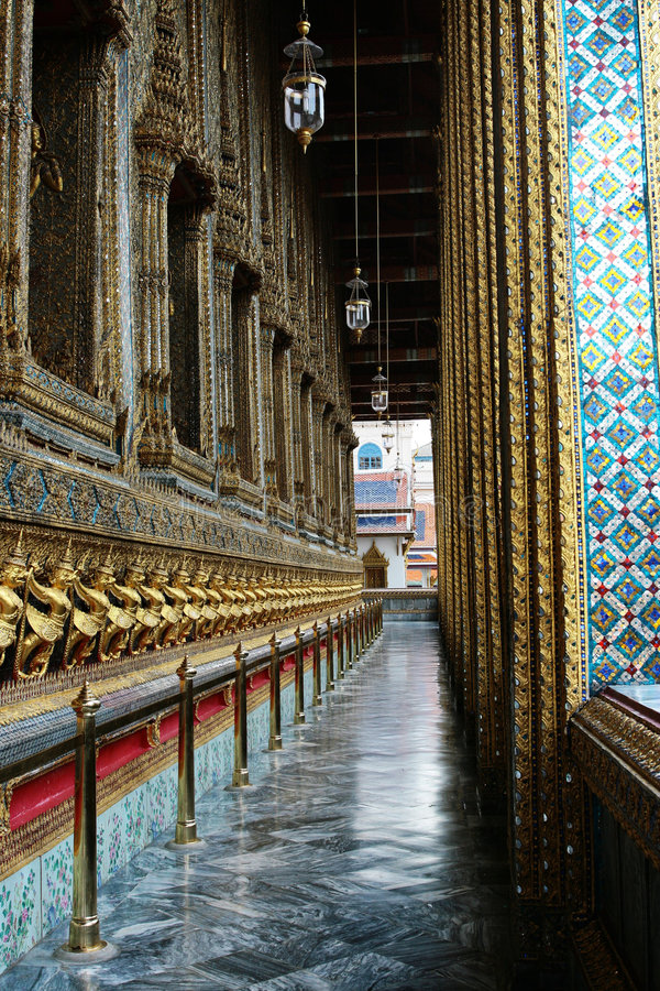 Veranda Of Grand Palace Stock Images