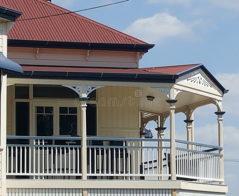 Veranda op Queenslander stock foto's