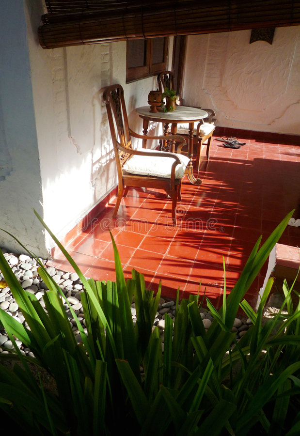 verandah курорта balinese стоковое фото rf