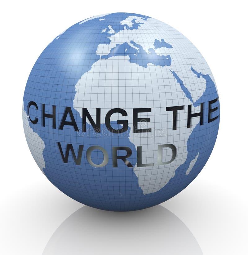 Verander de wereld stock illustratie