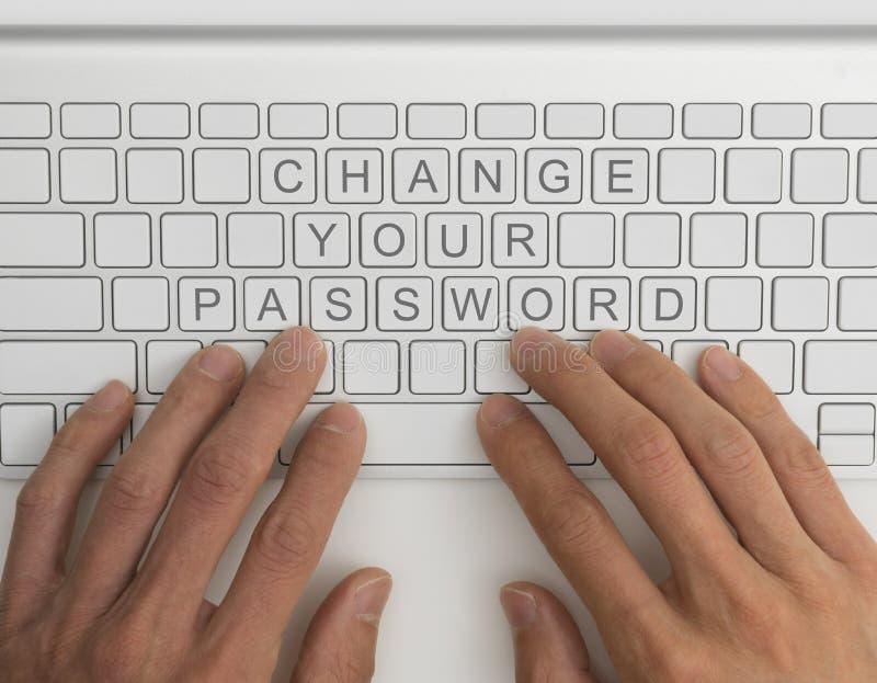 Verander uw wachtwoord royalty-vrije stock foto