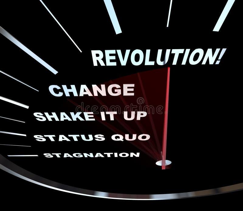 Verandering - de Rassen van de Snelheidsmeter in Revolutie stock illustratie