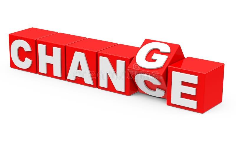 Verandering en kans royalty-vrije stock afbeelding