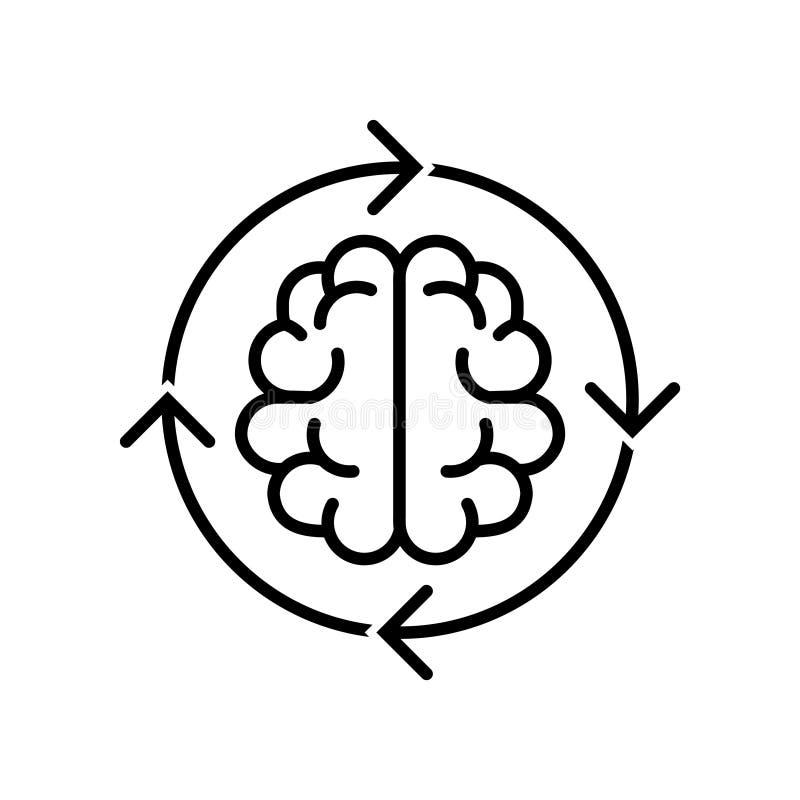 Verandering het denken pictogram, vectorillustratie stock illustratie