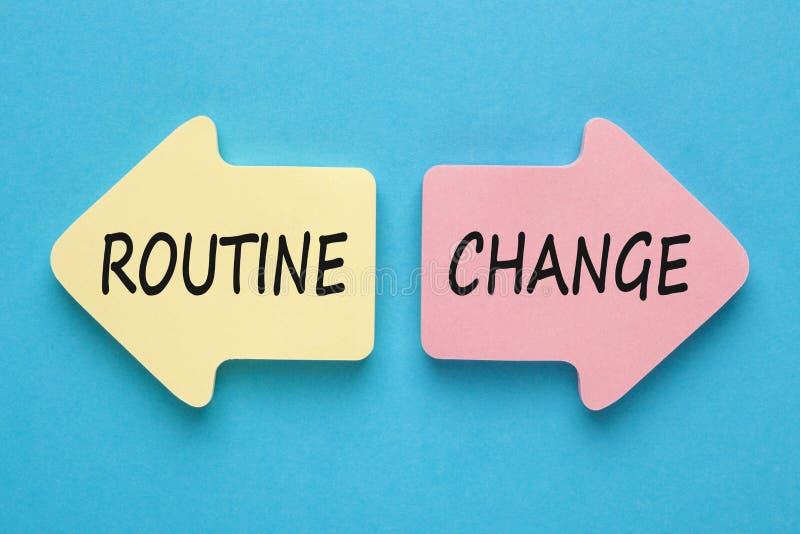 Verandering of routineconcept royalty-vrije stock fotografie