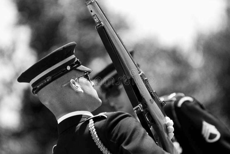 Verandering van de Wacht in Begraafplaats Arlington royalty-vrije stock foto