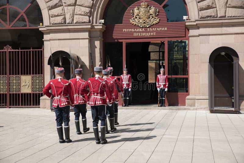 Verandering van wachten op het kantoor van de Voorzitter van Bulgarije stock foto